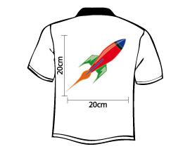 Tshirt Druck Logo Rücken