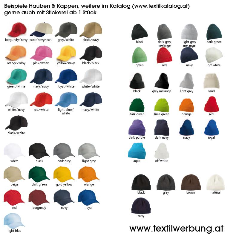 Haube Kappe Stickerei Textilhandel
